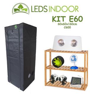 Kit De Cultivo Leds Indoor E60 - 60x60x160cm - C600