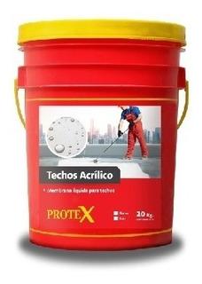 Protex Techos Membrana Líquida Acrilica X 20 Kg