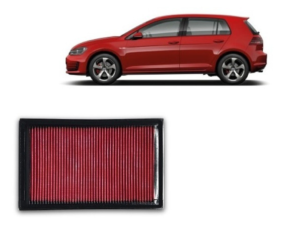 Filtro Ar Esportivo Inbox Rs Vw Golf Gti Mk7 2014 + Brinde