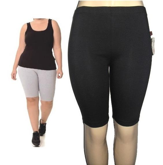 Bermuda Feminina Em Cotton 8 Tecido Grosso Academia Fitness