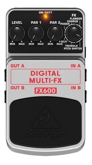 Pedal Behringer Fx600 - Multi Fx Delay Chorus Flanger Env24h