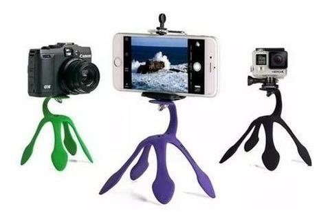 Suporte Universal Celular Go Pro Flexível Tripe Garra Selfie