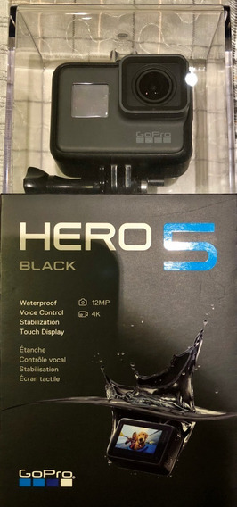 Gopro Hero 5 Black 2 Bat Na Caixa C/ Protetor E Acessórios