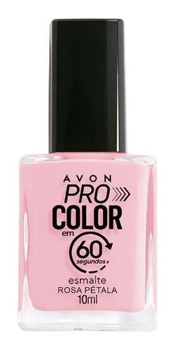 Imagem 1 de 1 de Avon - Pro Color 60 Segundos - Esmalte - Rosa Pétala