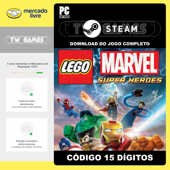 Lego Marvel Super Heroes Digital Pc Código 15 Dígitos Steam