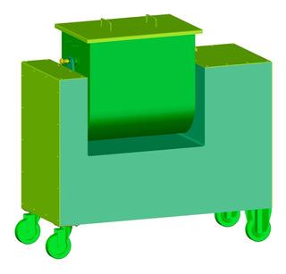 Mezcladora De Batea Volcable. Solo Planos De Fabricación.