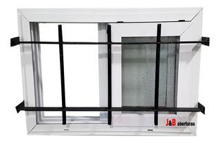 Ventiluz Corredizo De Aluminio 60x40 Con Reja Y Mosquitero