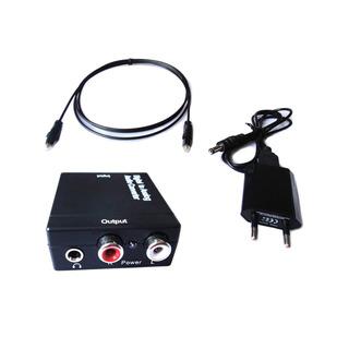 Conversor De Audio Digital Óptico A Rca Y 3.5mm | Dfast