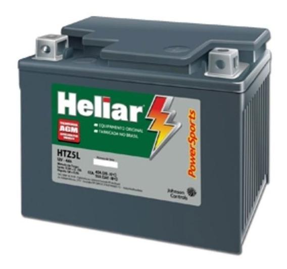 Bateria De Moto Heliar Htz5l 12v 4ah Cg125/150 Biz/100/125/