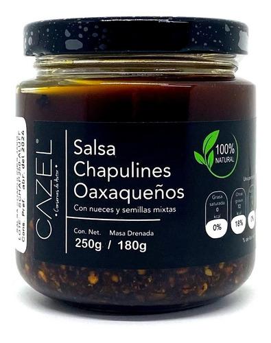 Imagen 1 de 6 de Salsa De Chapulines Oaxaqueños Con Nueces Y Semillas 220g