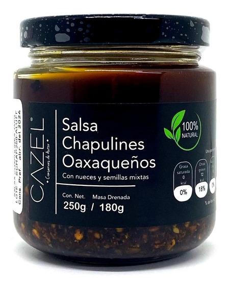 Salsa De Chapulines Oaxaqueños Con Nueces Y Semillas 250g