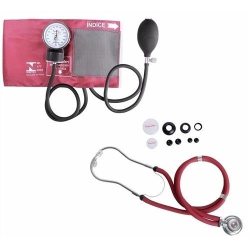Kit Aparelho De Pressão + Estetoscópio Rappaport Premium