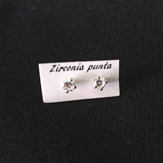 Aretes De Plata Con Circonia