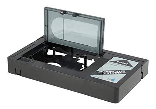 Adaptador De Vídeo Cassette Hq Vhs-c,color Negro. Marca Pyle