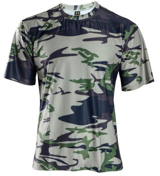 Camisa Camuflada Proteção Uv 50+ Manga Curta