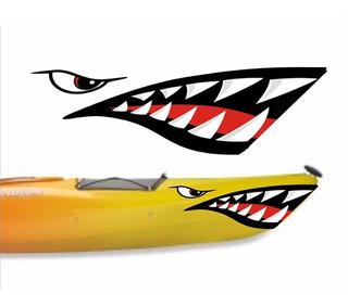 Adesivo Caiaque Boca De Tubarão