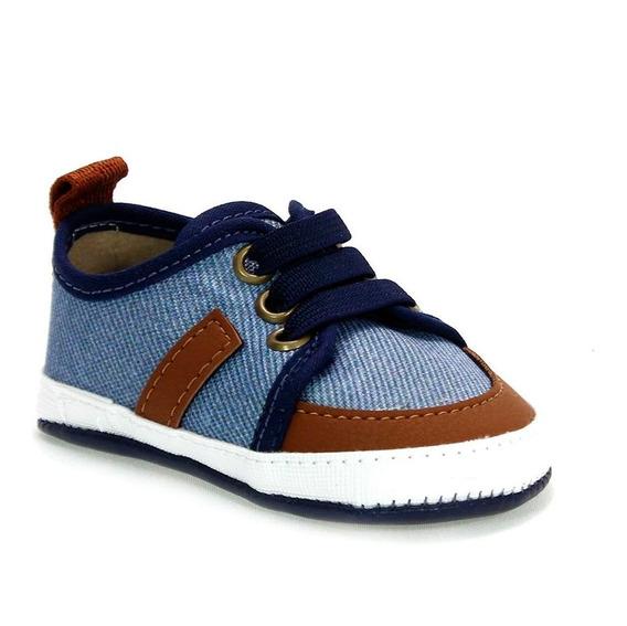 Sapatênis Neném Menino Denim Azul Jeans Molekinho