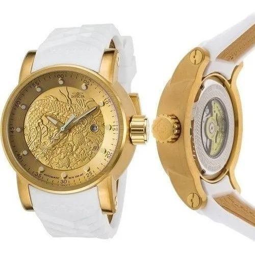 Relógio Invicta Yakuza S1 Original 19546 Homem Mulher Ouro