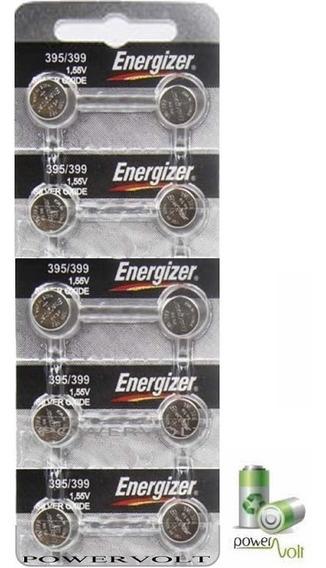 Bateria Energizer 395/399 Sr927sw Ag7 Sr57   Com C/10 Pilha
