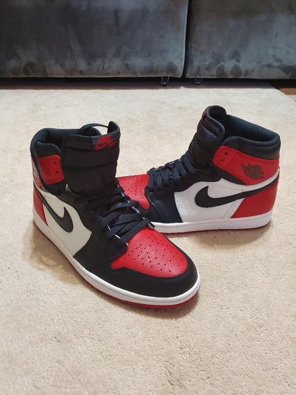 Tênis Air Jordan 1 Retro High Og Bred Toe Novo Na Caixa!