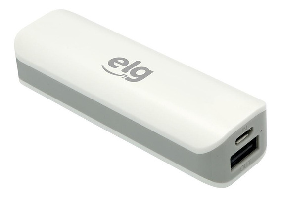 Carregador Portatil Power Bank 2000mah Porta Usb Ecpb2 Elg