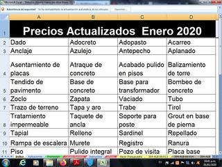 1480 Matrices Albañileria Precio Mano De Obra Septiembr 2019