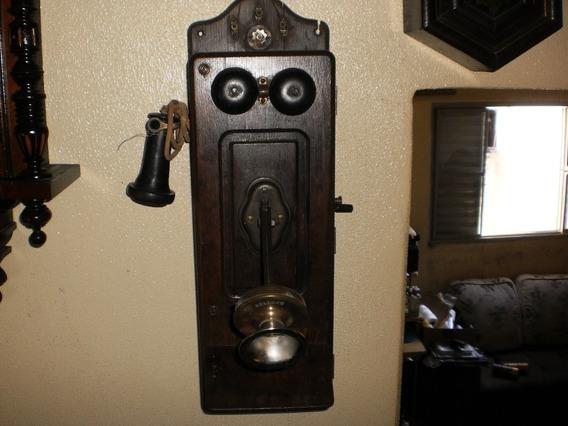 Antigo Telefone De Parede A Manivela. Kellocc Usa.lindo