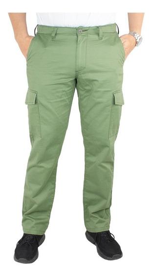 Pantalón Hombre Modelo Cargo Gabardina Straight. Estilo 3259