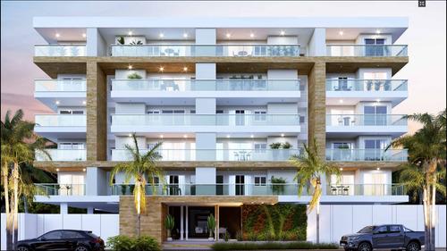 Imagem 1 de 14 de Apto 2 Suites, Varanda Gourmet, Cerca 250m Orla Praia Itaguá