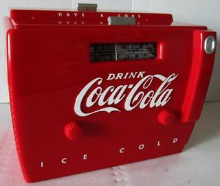 Vendo Telefotno Y Radio De Coca Cola Vintage Rojo Con Caja