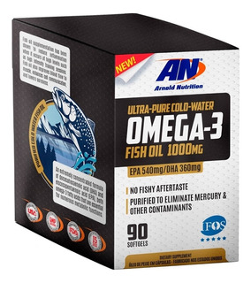 Omega 3 Fish Oil 1000mg 90 Caps Arnold Nutrition Nota Fiscal