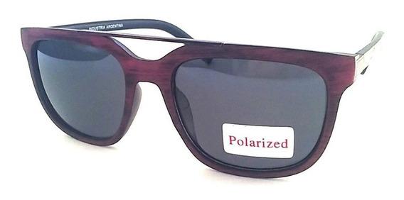 Lentes Gafas Sol Polarizado Simil Madera Hombre Mujer Jl1373