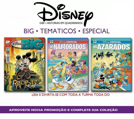 Revistas Disney Especial Big Kit 3 Volumes - Mickey Donald