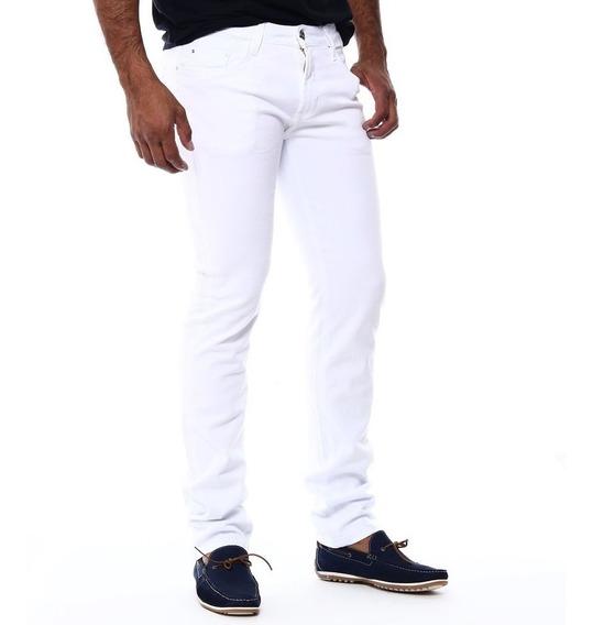 Calça Jeans Masculina Bivik Trabalho Branca Super Oferta