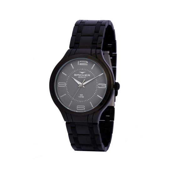 Relógio Backer 3640113f Cz Preto Backer