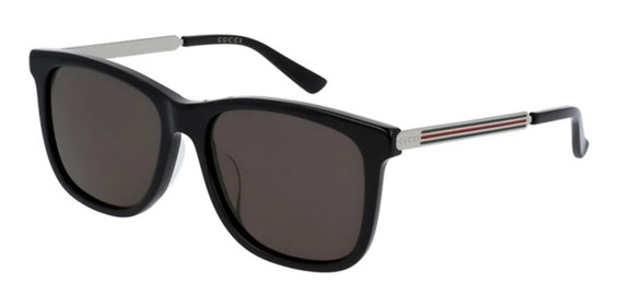 Óculos De Sol Gucci Gg0078sk 002 Preto / Cinza