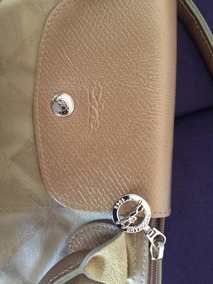 Bolsa Longchamp Dourada Modèle Déposé