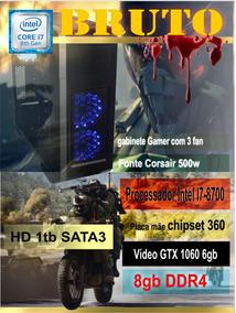 Computador Gamer Bruto - I7-8700 8gb Gtx1060