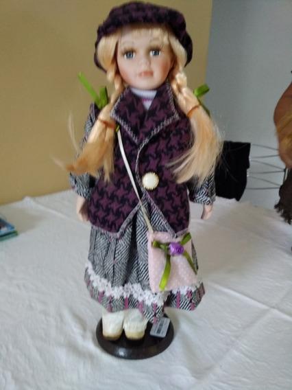 Boneca Porcelana Coleção Camponesa Porcelain Doll 40 Cm !!!