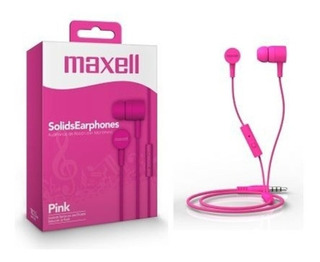 Audifonos C/mic Maxell Solids Earphones/boton Cable1,5reforz