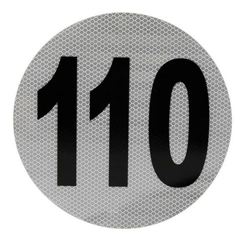 Calco Reflectivo Velocidad Máxima  110  Homologado