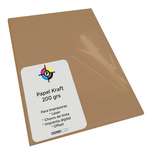 Papel Kraft A4 200 Grs Misionero 100 Hojas Laser O Inkjet