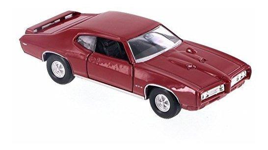 Welly 22501 Pontiac GTO 1969 naranja escala 1:24 coche modelo nuevo °