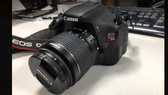 Canon T3i + Lente 18-55mm 3.5-5.6 Is