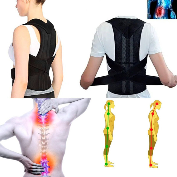 Faja Unisex Ortopédica Corrector De Postura Cómodo Full