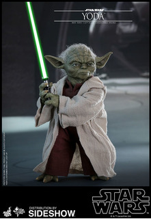 Hot Toys Yoda Episodio 2 Attack Of The Clones Star Wars Eslr