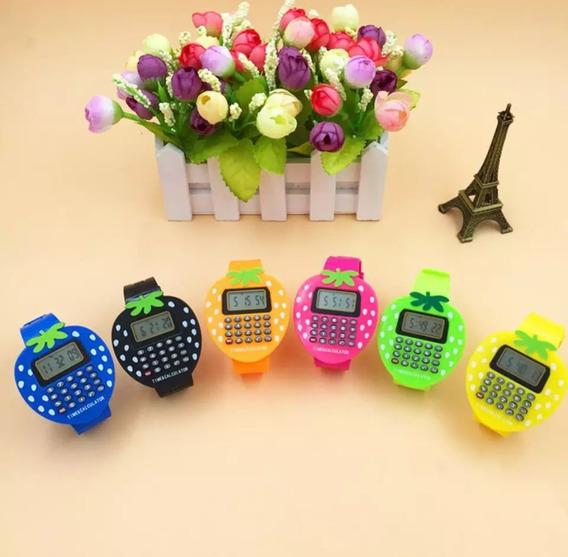 Relógio Morango Calculadora Pronta Entrega Meninas Oferta