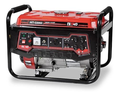 Imagen 1 de 2 de Nit-g3002  Motor 6.5 Hp 4 Tiempos 2800w 110/220v Nitro