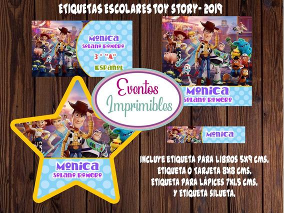 Etiquetas Escolares Toy Story 2019