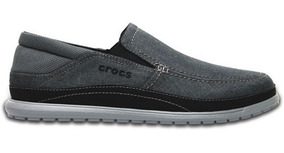 Zapato Crocs Caballero Santa Cruz Playa Slip-on Gris